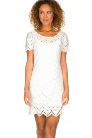 Freebird |  Dress with embroideries and cut-outs Tammy | white  | Picture 2