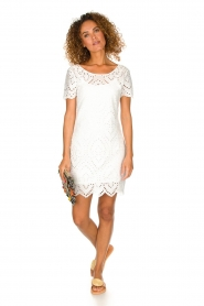 Freebird |  Dress with embroideries and cut-outs Tammy | white  | Picture 3