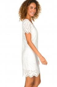 Freebird |  Dress with embroideries and cut-outs Tammy | white  | Picture 4