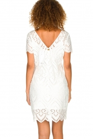 Freebird |  Dress with embroideries and cut-outs Tammy | white  | Picture 5