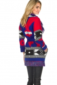 Les Galeries Neuf |  Cardigan with aztec print Nora | blue  | Picture 6