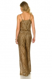 Rabens Saloner |  Jumpsuit with lurex Columbia | moss green  | Picture 5