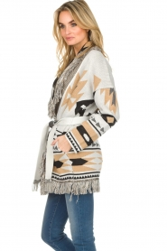 Les Galeries Neuf |  Cardigan with aztec print Nora | natural  | Picture 5