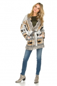 Les Galeries Neuf |  Cardigan with aztec print Nora | natural  | Picture 3