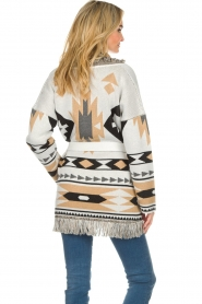Les Galeries Neuf |  Cardigan with aztec print Nora | natural  | Picture 6