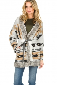 Les Galeries Neuf |  Cardigan with aztec print Nora | natural  | Picture 7