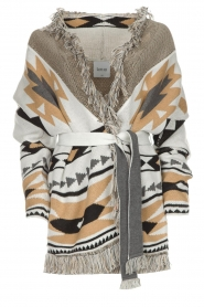 Les Galeries Neuf |  Cardigan with aztec print Nora | natural  | Picture 1