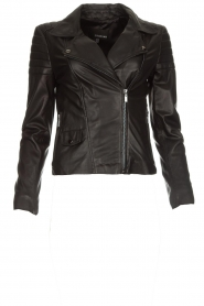 Arma |  Leather biker jacket Lesley | black  | Picture 1