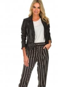Arma |  Leather biker jacket Lesley | black  | Picture 2