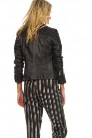 Arma |  Leather biker jacket Lesley | black  | Picture 6