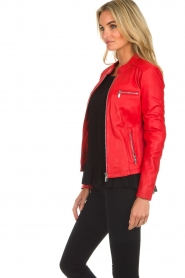 Arma |  Studio Ar leather biker jacket Tuya | red  | Picture 4