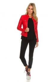 Arma |  Studio Ar leather biker jacket Tuya | red  | Picture 3