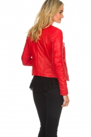 Arma |  Studio Ar leather biker jacket Tuya | red  | Picture 5