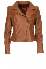 Arma |  Studio Ar leather biker jacket Gomera | camel  | Picture 1