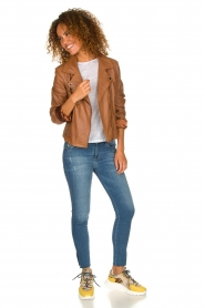Arma |  Studio Ar leather biker jacket Gomera | camel  | Picture 3