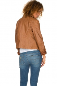 Arma |  Studio Ar leather biker jacket Gomera | camel  | Picture 5