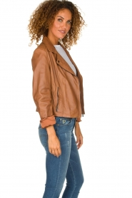 Arma |  Studio Ar leather biker jacket Gomera | camel  | Picture 4
