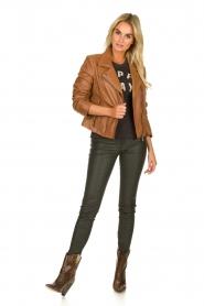 Arma |  Studio Ar leather biker jacket Gomera | camel  | Picture 3