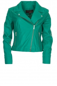 Arma |  Studio Ar leather biker jacket Gomera | green  | Picture 1