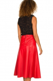 Arma | Studi Ar leather skirt Megan | red  | Picture 5