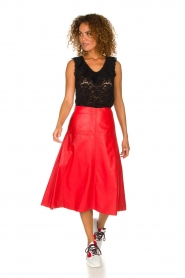 Arma | Studi Ar leather skirt Megan | red  | Picture 3
