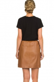 Arma |  Studio Ar leather skirt Mirte | brown  | Picture 5