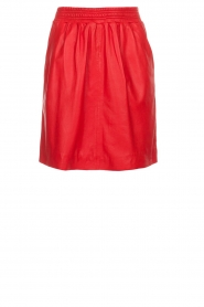 Arma |  Studio Ar leather skirt Mirte | red  | Picture 1
