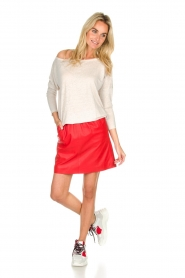 Arma |  Studio Ar leather skirt Mirte | red  | Picture 3
