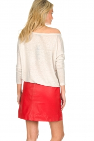 Arma |  Studio Ar leather skirt Mirte | red  | Picture 5