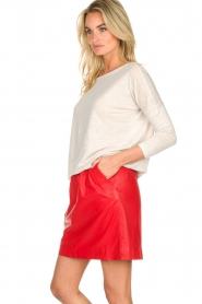 Arma |  Studio Ar leather skirt Mirte | red  | Picture 4