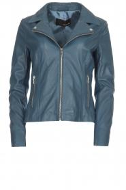 Arma |  Studio Ar leather biker jacket Kendall | blue  | Picture 1