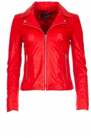 Arma |  Studio Ar leather biker jacket Kendall | red  | Picture 1