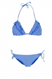 Becksöndergaard |  Checkered triangle bikini Checks | blue  | Picture 1