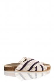 Becksöndergaard |  Striped sandals with ruffles Mikka | white  | Picture 1