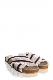 Becksöndergaard |  Striped sandals with ruffles Mikka | white  | Picture 3