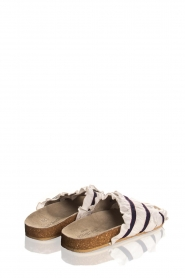 Becksöndergaard |  Striped sandals with ruffles Mikka | white  | Picture 4