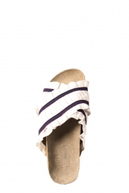 Becksöndergaard |  Striped sandals with ruffles Mikka | white  | Picture 5