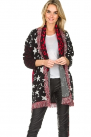 Est-Seven |  Cardigan with prints Lucky Star | multi  | Picture 4