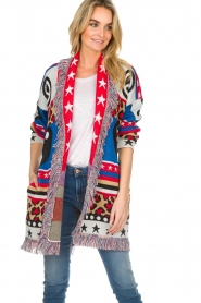 Est-Seven |  Cardigan with prints Show Me What You Got | multi  | Picture 4