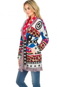 Est-Seven |  Cardigan with prints Show Me What You Got | multi  | Picture 5