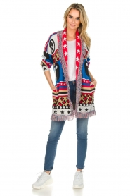 Est-Seven |  Cardigan with prints Show Me What You Got | multi  | Picture 3