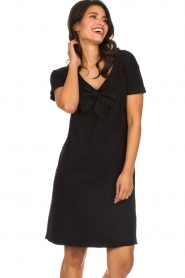 Les Favorites |  Dress with bow Suze | black  | Picture 2