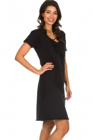 Les Favorites |  Dress with bow Suze | black  | Picture 4