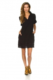 Les Favorites |  Cotton dress Philly | black  | Picture 3