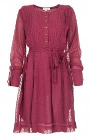 Les Favorites |  Dotted dress with ruffles Fiene | bordeaux  | Picture 1
