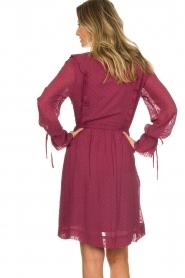 Les Favorites |  Dotted dress with ruffles Fiene | bordeaux  | Picture 6