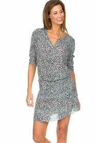 Les Favorites |  Dress with panther print Florie | animal print  | Picture 3