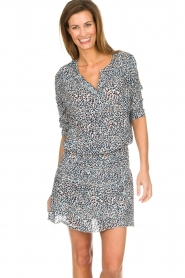 Les Favorites |  Dress with panther print Florie | animal print  | Picture 1