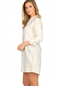 Les Favorites |  Lurex striped blouse dress Fiep | white  | Picture 5