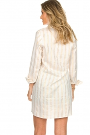 Les Favorites |  Lurex striped blouse dress Fiep | white  | Picture 6